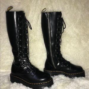 Mr Marten 1B60 XL Britain 20 Hole KneeHigh Leather Boots